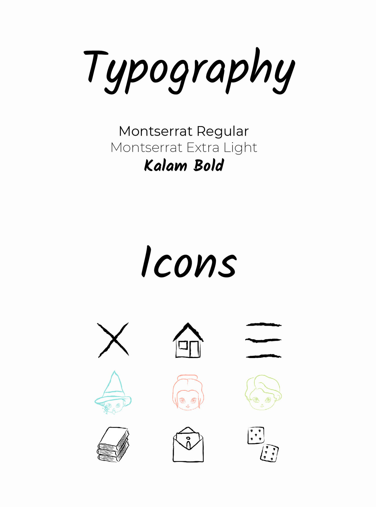 typography and icons